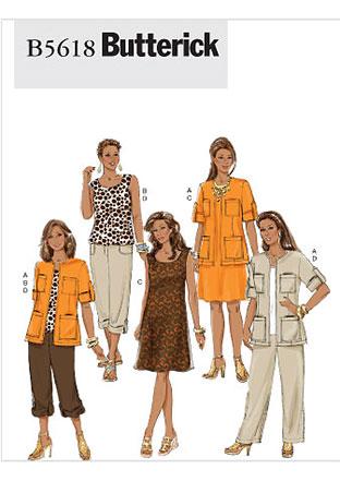 Butterick Pattern B5618 by Fabric World George