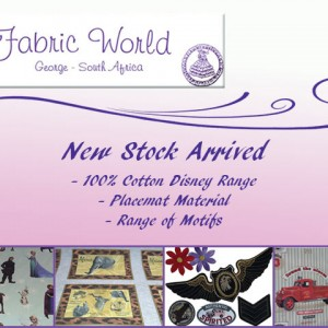fabric world September offers 2015