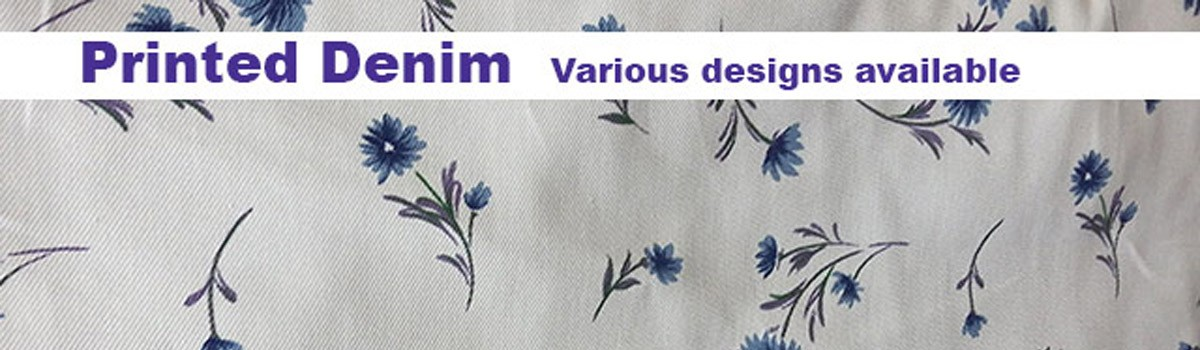 Printed denim various design available