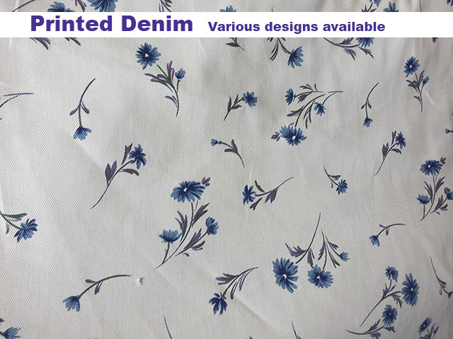 Printed Denim available at Fabricworld in George