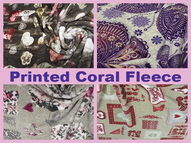 Printed Coral Fleece