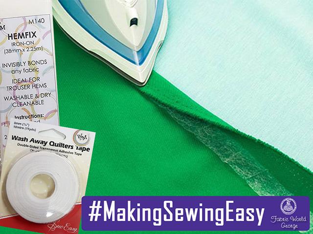 Make Sewing Easy with Hemfix and Wash Away Quilters Tape